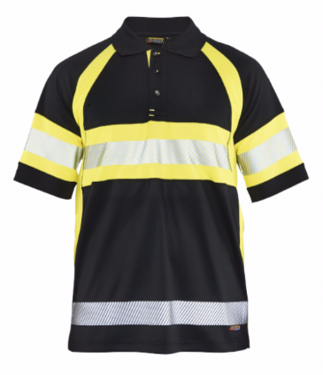 Blaklader 3338 High Vis Polo Shirt Class 1 (Black/Yellow)
